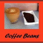 Coffee beans red button